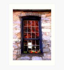 Burwell-Morgan Mill_4 Window Reflections Art Print