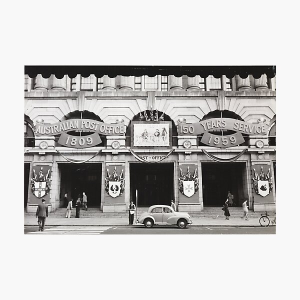 General Post Office Perth in 1959 photographed by William Alroe Halvorsen State Library of Western Australia Photographic Print
