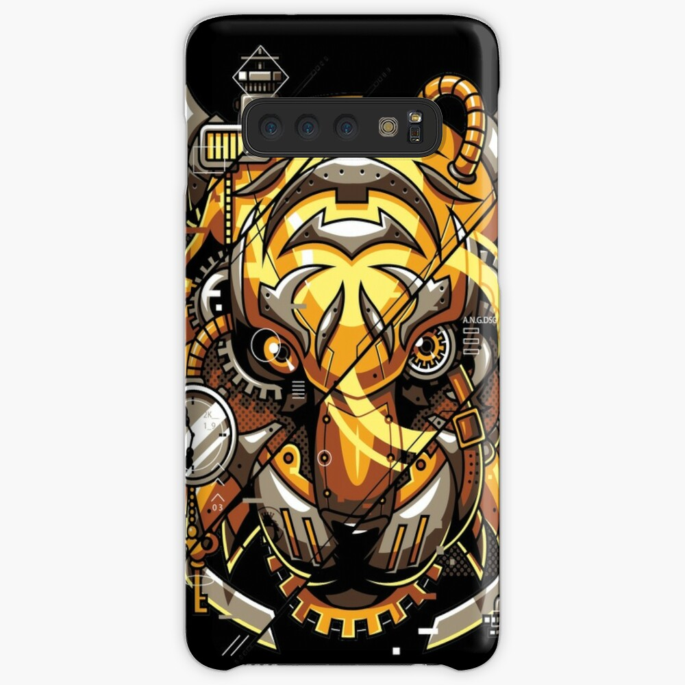 Digitalized Tiger Case & Skin for Samsung Galaxy