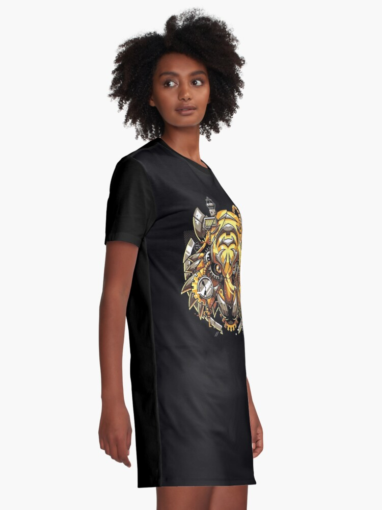 Alternate view of Digitalized Tiger Graphic T-Shirt Dress