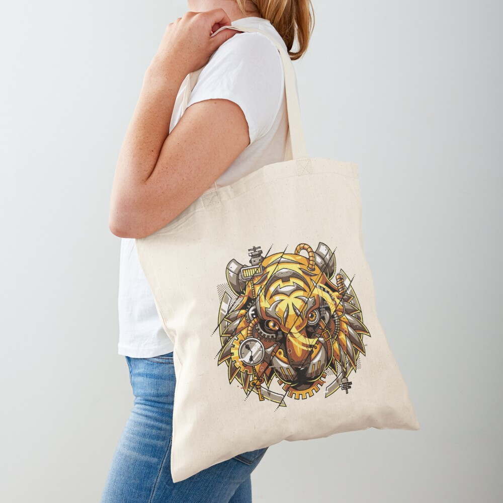 Digitalized Tiger Tote Bag