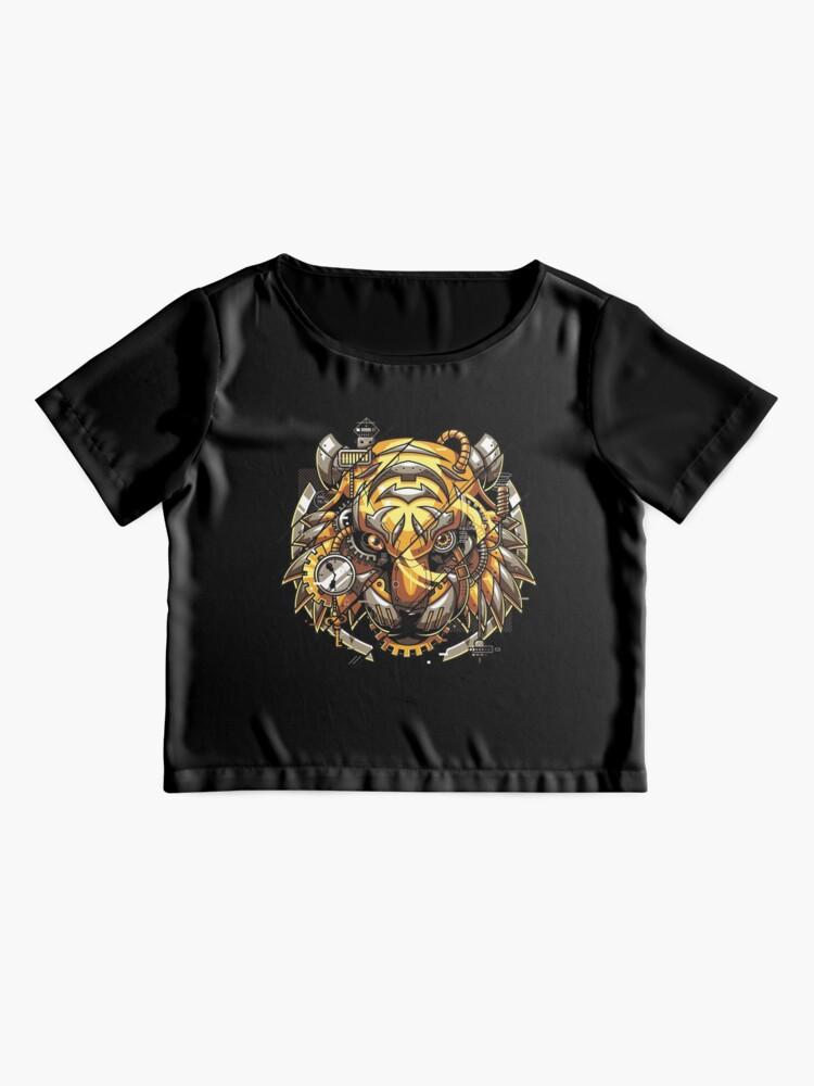 Alternate view of Digitalized Tiger Chiffon Top