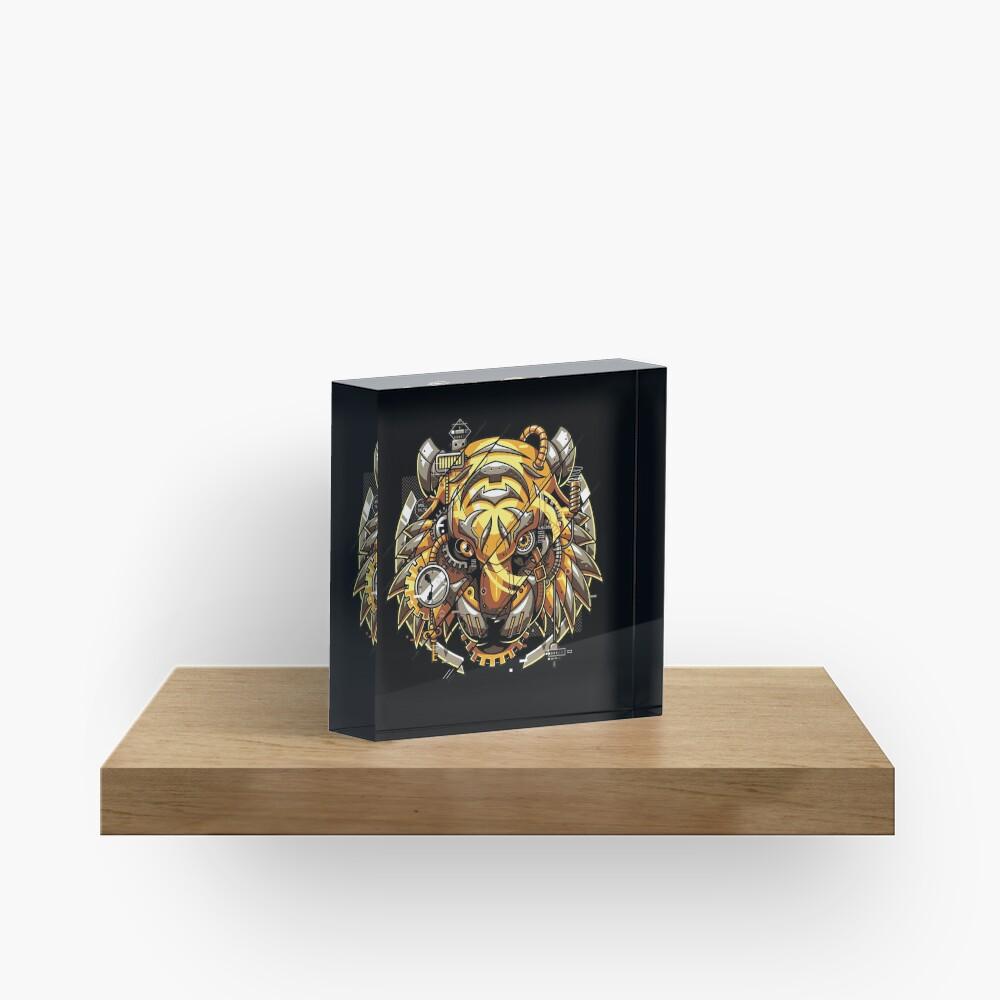 Digitalized Tiger Acrylic Block