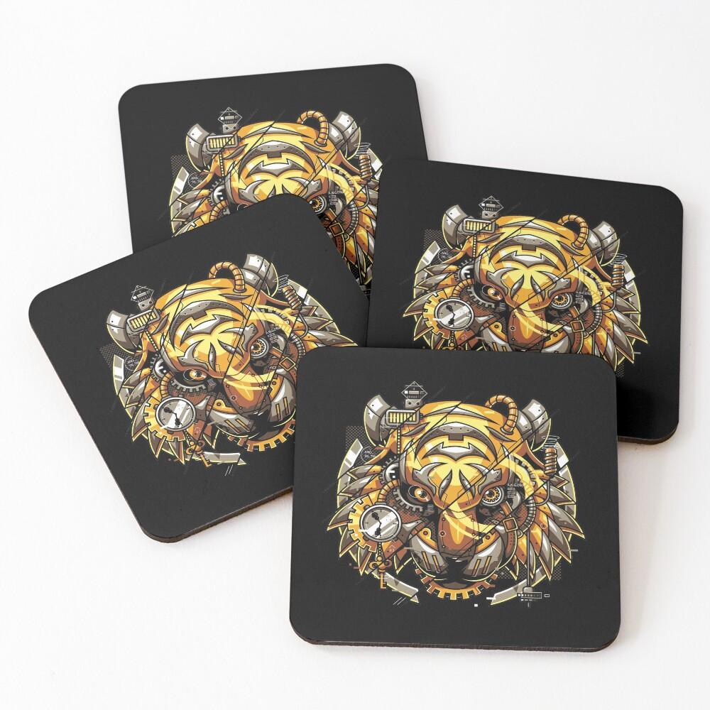 Digitalized Tiger Coasters (Set of 4)
