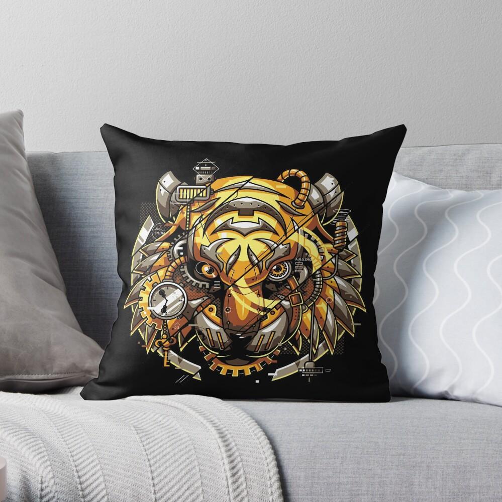 Digitalisierter Tiger Dekokissen