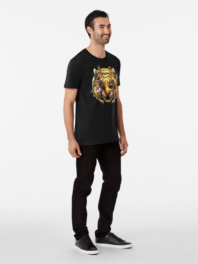 Alternate view of Digitalized Tiger Premium T-Shirt