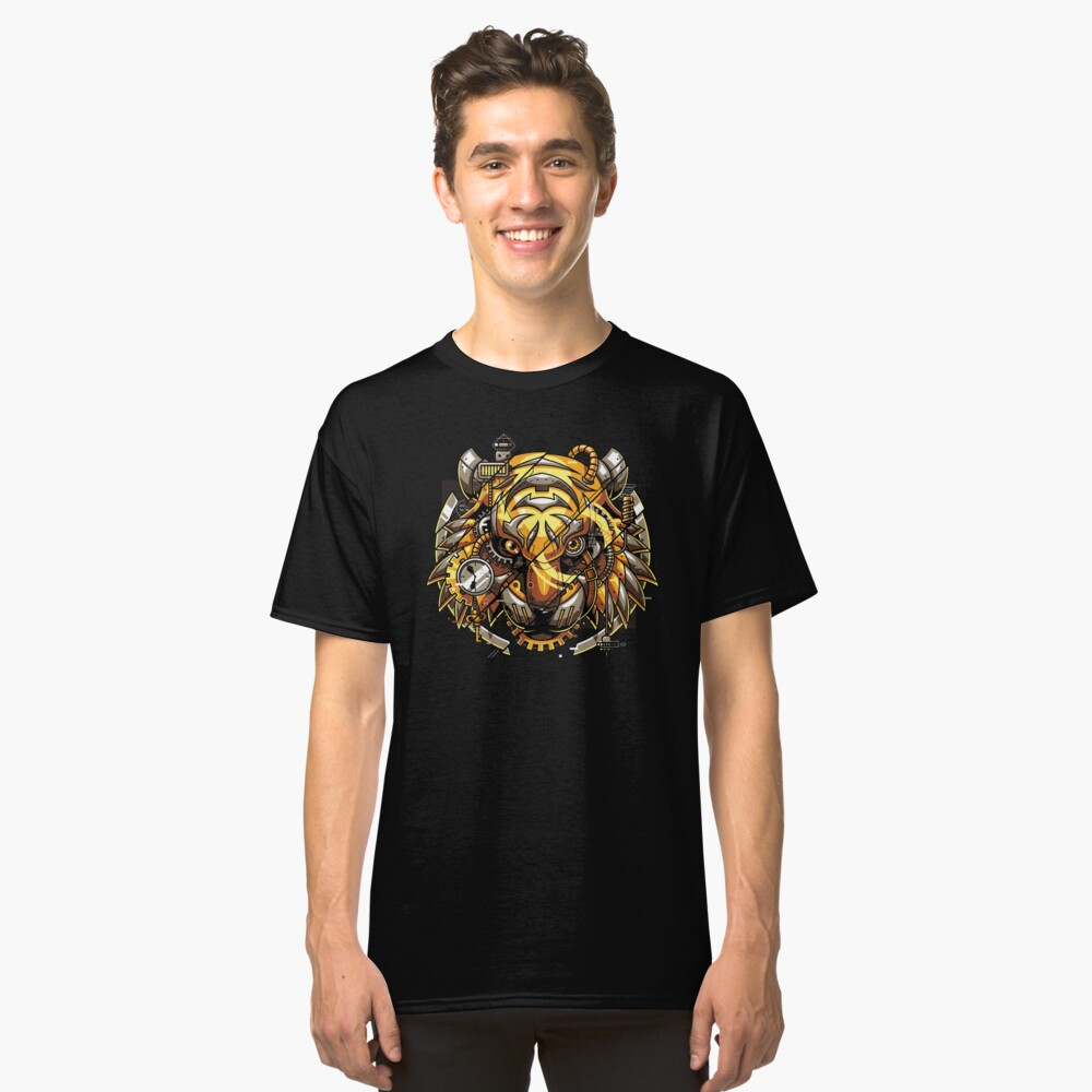 Digitalized Tiger Classic T-Shirt