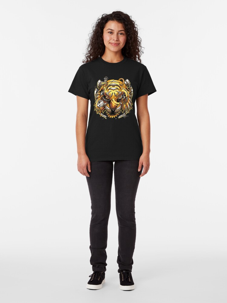 Alternate view of Digitalized Tiger Classic T-Shirt