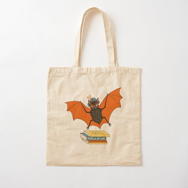 Bat granny in the library  Cotton Tote Bag