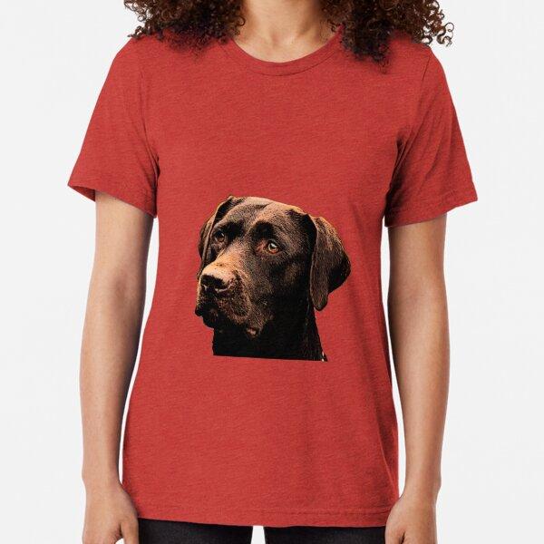 Chocolate Lab Tri-blend T-Shirt