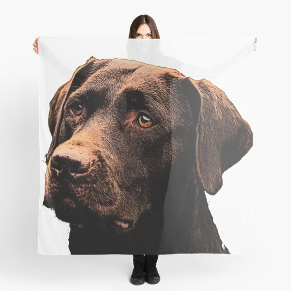 Chocolate Lab Scarf