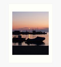 Amorgos Sunset  Art Print