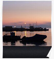 Amorgos Sunset  Poster
