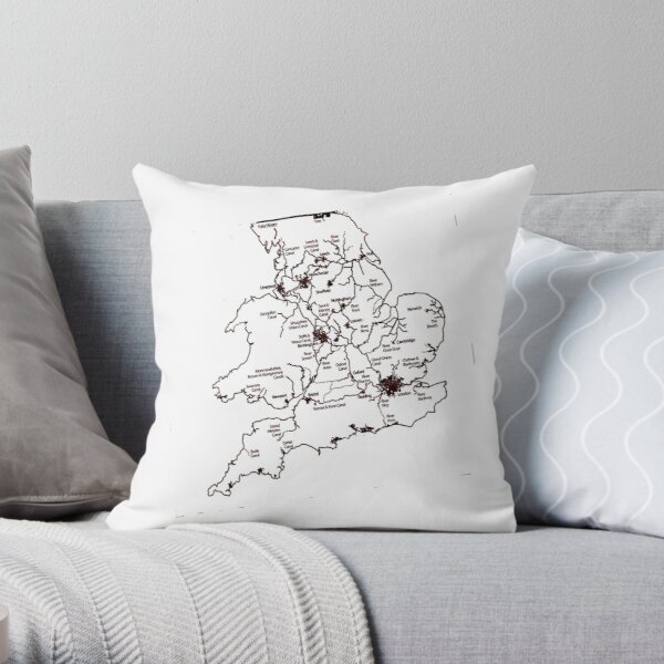 Inland Waterways 1 Throw Pillow