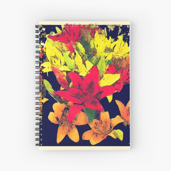 Large Bunch of Flowers Spiral Notebook