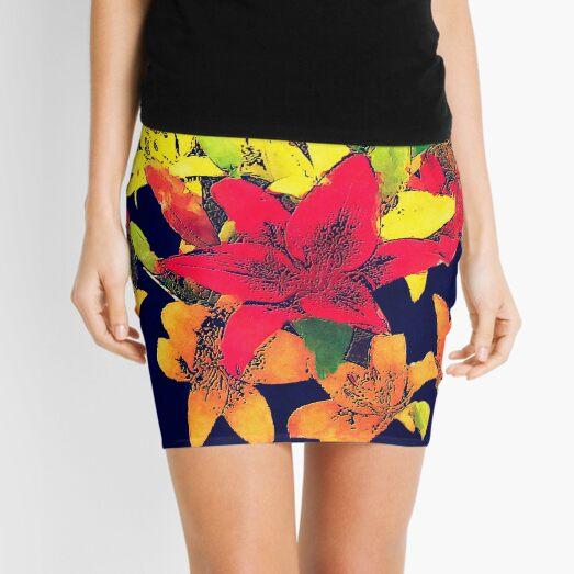Large Bunch of Flowers Mini Skirt