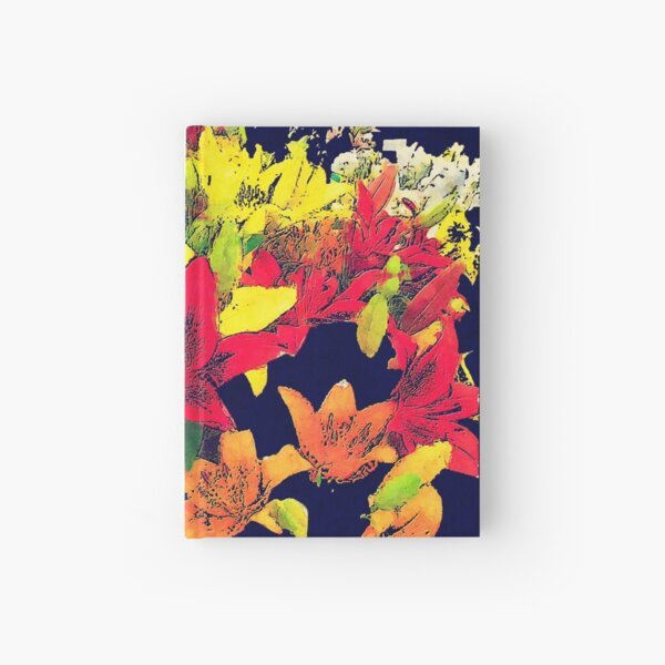 Large Bunch of Flowers Hardcover Journal