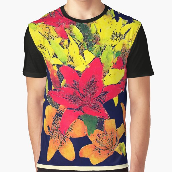 Large Bunch of Flowers Graphic T-Shirt