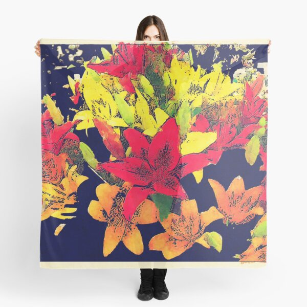 Large Bunch of Flowers Scarf