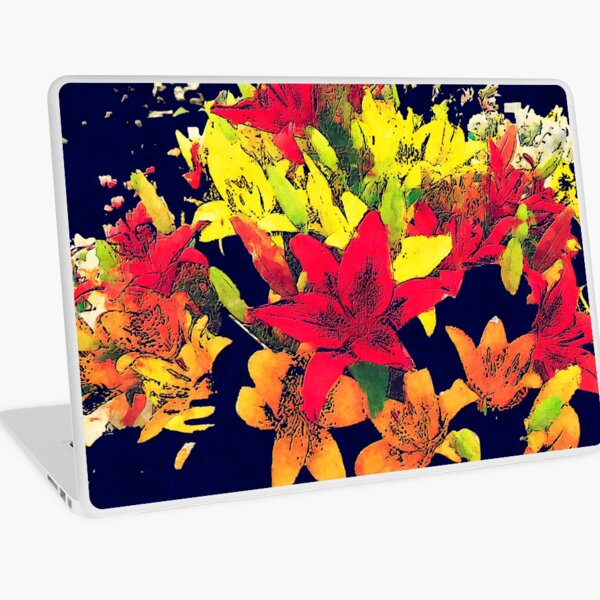 Large Bunch of Flowers Laptop Skin