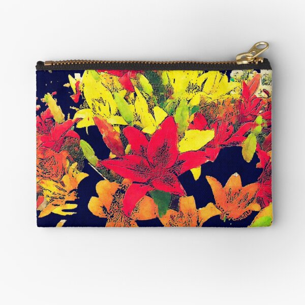Large Bunch of Flowers Zipper Pouch