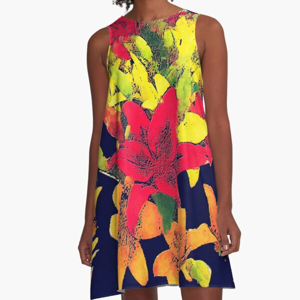 Large Bunch of Flowers A-Line Dress