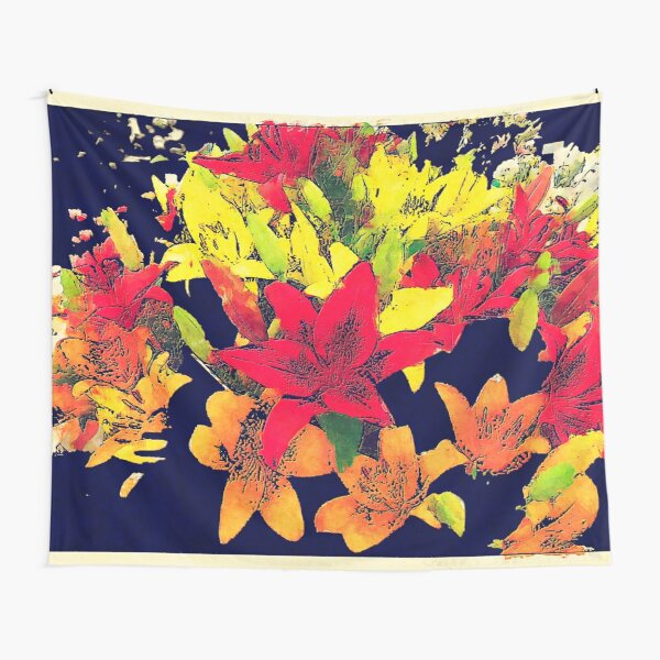 Large Bunch of Flowers Tapestry