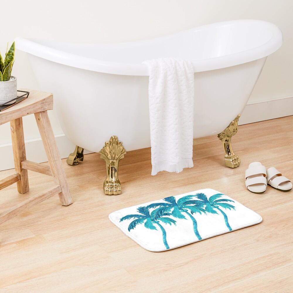 Three Coconut Palm Trees Bath Mat