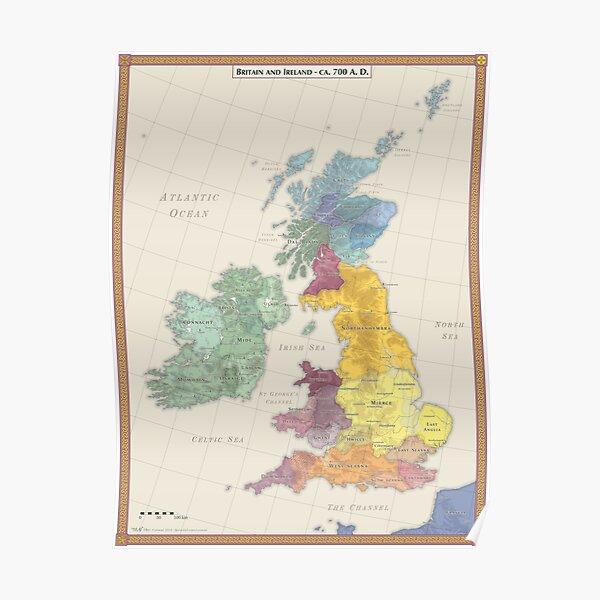 Kopie von Britain and Ireland AD 700 Poster