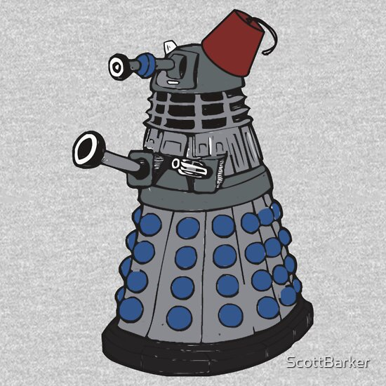 TShirtGifter presents: Dalek doctor who fez's are cool 2