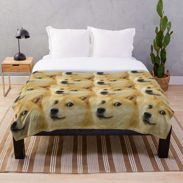 Doge collage Throw Blanket