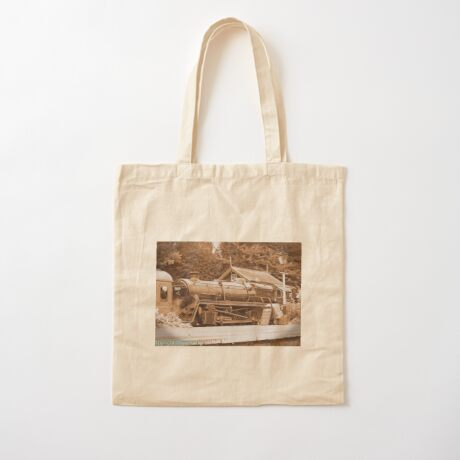 Steam past and present  Cotton Tote Bag