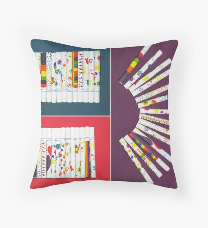 Rainbow Smokies Throw Pillow
