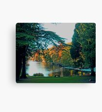 Friars Carse Hotel grounds & river Canvas Print
