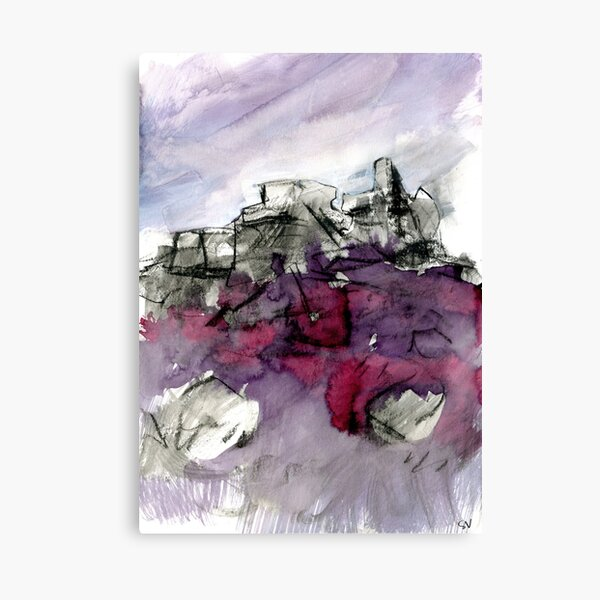 White Tor, Derwent Edge - Peak District landscape painting Canvas Print