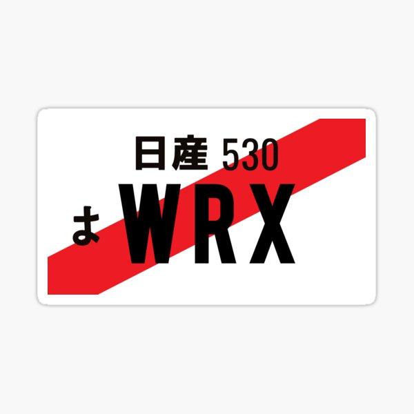 WRX JDM NUMBER PLATE Sticker