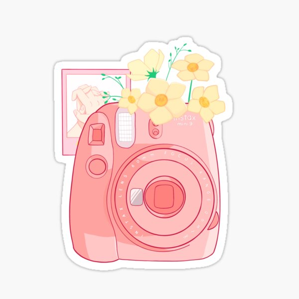 Polaroid - Instax Mini - Aesthetic - Vitage - Kawaii Instax - Instax mini 9 -  Pegatina