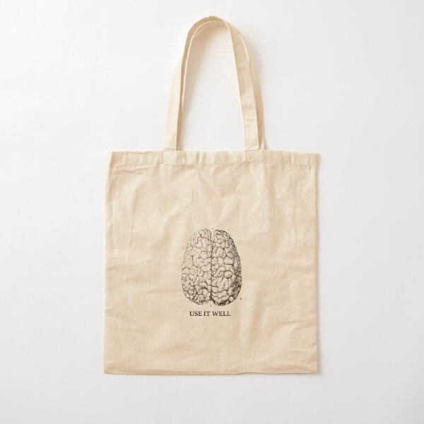 Use it well - Brain  Cotton Tote Bag