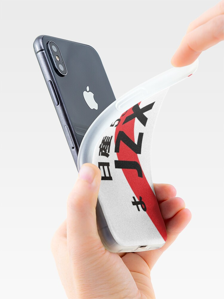 Alternate view of JZX JDM NUMBER PLATE iPhone Case & Cover