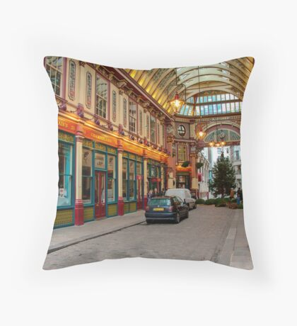Leadenhall Market: City of London, UK. Throw Pillow