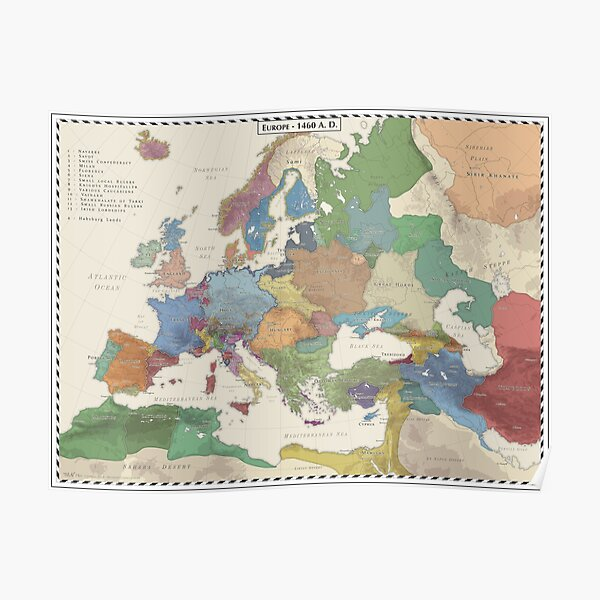 Europe AD 1460 Poster