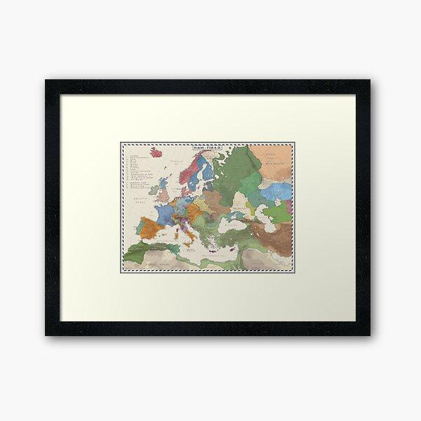Europe AD 1550 Framed Art Print