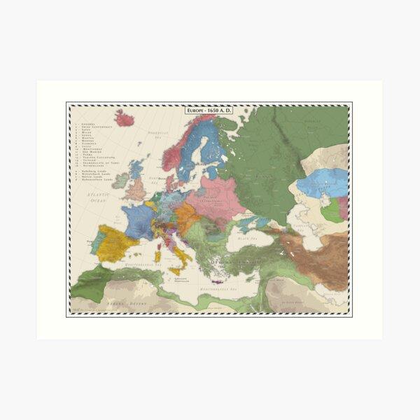 Europe AD 1650 Art Print