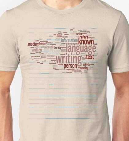 Known Language Writing Person T-Shirt