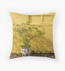 The Yellow Wall Throw Pillow
