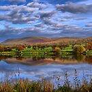 Pendle Hill And Trout Lake by Sandra Cockayne