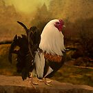Rooster at Hanauma Bay by Jeff Burgess
