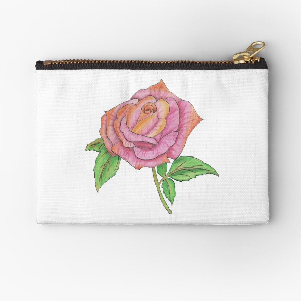 Colorful Rose Zipper Pouch
