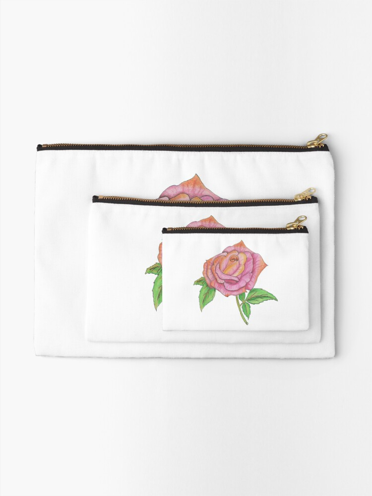 Alternate view of Colorful Rose Zipper Pouch