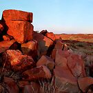 Rock formation Karratha W.A panorama by dmaxwell